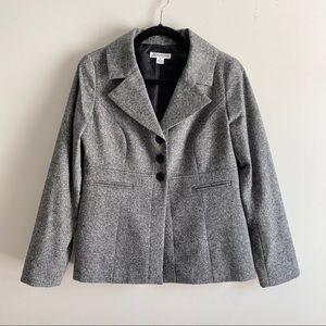 Pendleton virgin wool/silk blend blazer